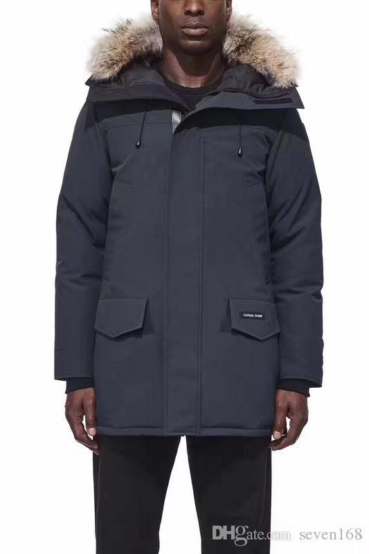 Big raccoon Fur 2017 Brand New Mens thick Goose Down Fire Rhinoceros CHATEAU Parka Coat Winter Warm Jacket