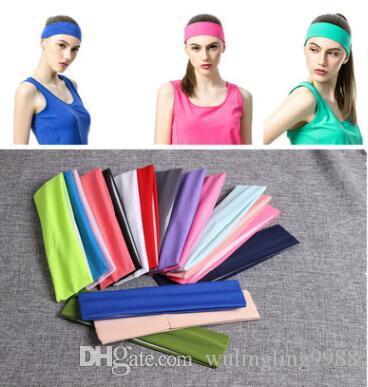 Bandane di moda per le donne Fascia elasticizzata Fascia per capelli Bandane Yoga Fascia per capelli Sweat Head Wrap Unisex High Elastic Bandanas