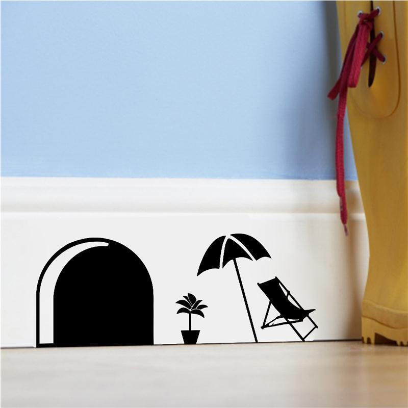 Nette DIY Maus Löcher Ratten Familie Sommer Stil Hause Aufkleber  Wandaufkleber Kinder Kinderzimmer Dekoration Aufkleber Treppen