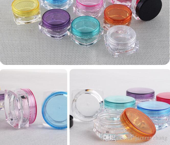 5G svuota il vaso cosmetico riutilizzabile della pentola del fronte della polvere della bottiglia di caso della bottiglia del contenitore di trucco di trucco all'ingrosso 50PCS
