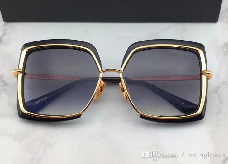 Men Square Gold / Black Occhiali da sole Luxury Occhiali da sole gafas de sol Designer Occhiali da sole vintage glasses New with Box DNUM180721-6