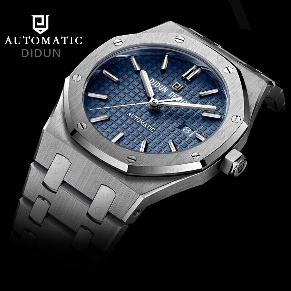 DIDUN-automatische mechanische Uhren Top Uhren Männer Stahl Army Uhren Male Geschäfts Handgelenk