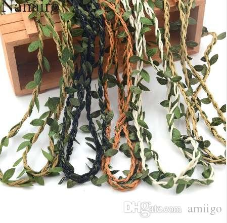 10m 인공 아이비 잎 화환 식물 덩굴 가짜 단풍 꽃 홈 인테리어 실크 꽃 등나무 벽 책 덩굴 가짜 단풍