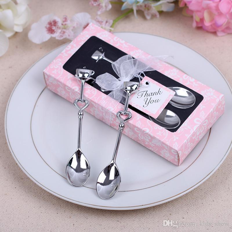 Amore a forma di cuore caffè tè misurazione Cucchiaio da sposa decorazione amante regalo in acciaio inox cena stoviglie imposta NA018