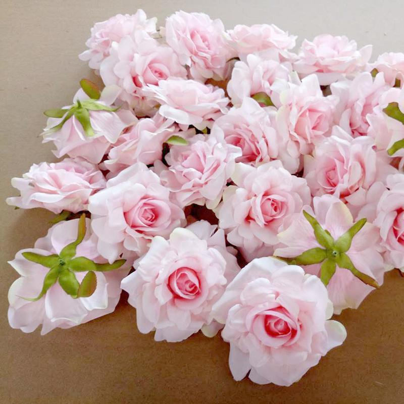 20PCS Artificial Flowers Head For Wedding Decoration DIY Wreath Gift Box 10cm Floral Silk Party Design Flowers
