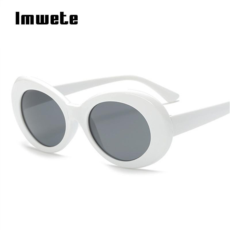 Imwete mulheres óculos de proteção óculos de sol homens nirvana kurt cobain óculos masculino pequeno espelho óculos retro branco eyewear uv400