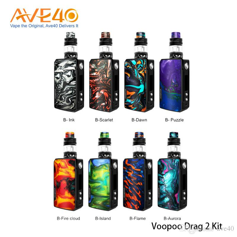 Voopoo Drag 2 Kit 177W With Uforce T2 Tank GENE.FIT Chip Powered by dual 18650 batteries 100% Original