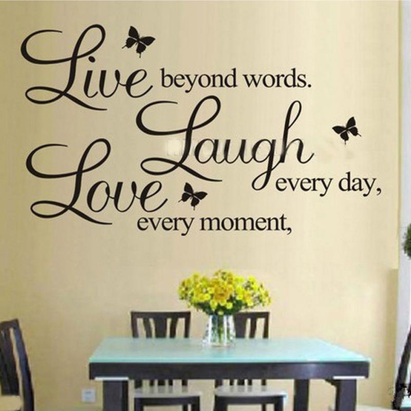 Live Love Laugh Letters Wall Stickers Removable Environmental Pvc Home Decor Transprent Waterproof Vinyl Wall Sticker Ss5 Quotes Wall Stickers Removable Decals From Toto5 3 84 Dhgate Com