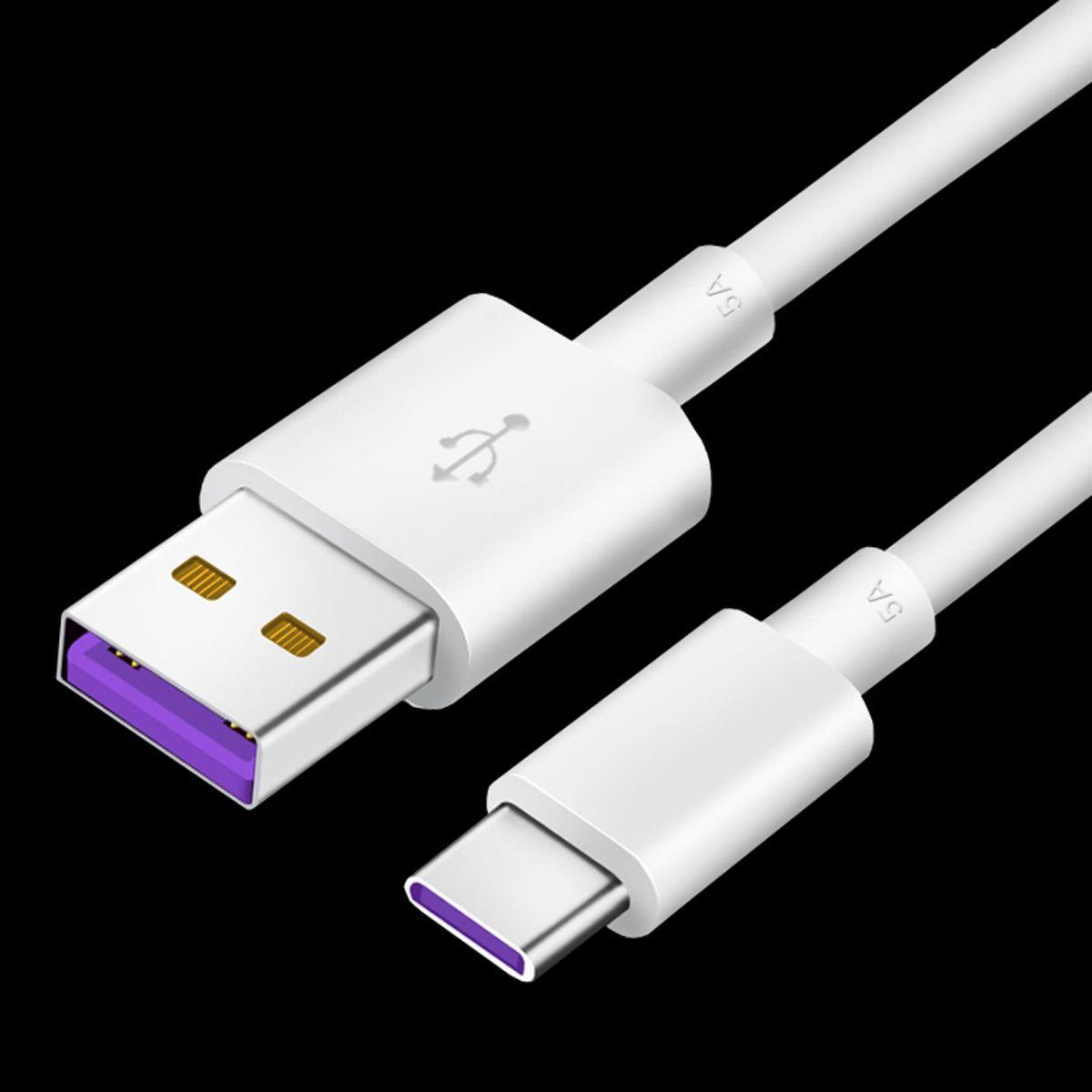 Cable de carga rápida 5V 5A Tipo-C a USB Cable de datos para Huawei Mate 9 P20 P10 Tablet Phone