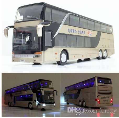 Продажа Высокое качество 1:32 сплава вытяните назад модель автобуса, высокая имитация Двойной экскурсионный автобус, flash игрушечный автомобиль, бесплатная доставка