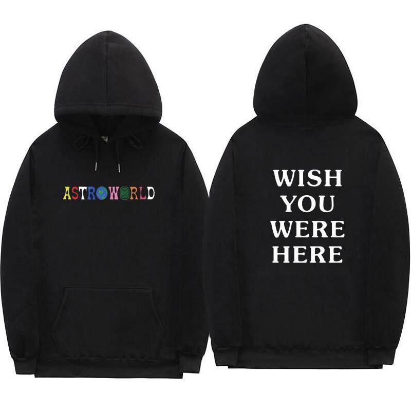 2018 Трэвис Скотт AstroWorld толстовки моды письмо печати толстовка стрит Мужчина и женщина пуловер Толстовка
