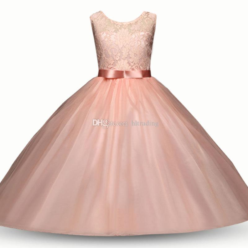 Baby flower dress TUTU lace Princess dresses 2018 new fashion summer Kids Clothing Boutique girls Ball Gown 8 colors C3547