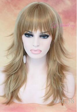Charm Brown Blonde Fashion Full Wig Cosplay Party Wig Hair