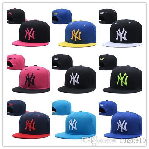 Hot Cool Gorras ajustables Snapback, New York Football Béisbol Snap Back Sombreros Hip Hop Snapbacks Jugadores Deportes para hombres y mujeres gorras