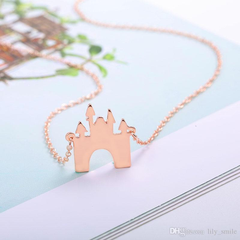 2018 New FASHION JEWELRY Exquisite castle Necklace child's fairy tale Building pendant for fans Summer Gift