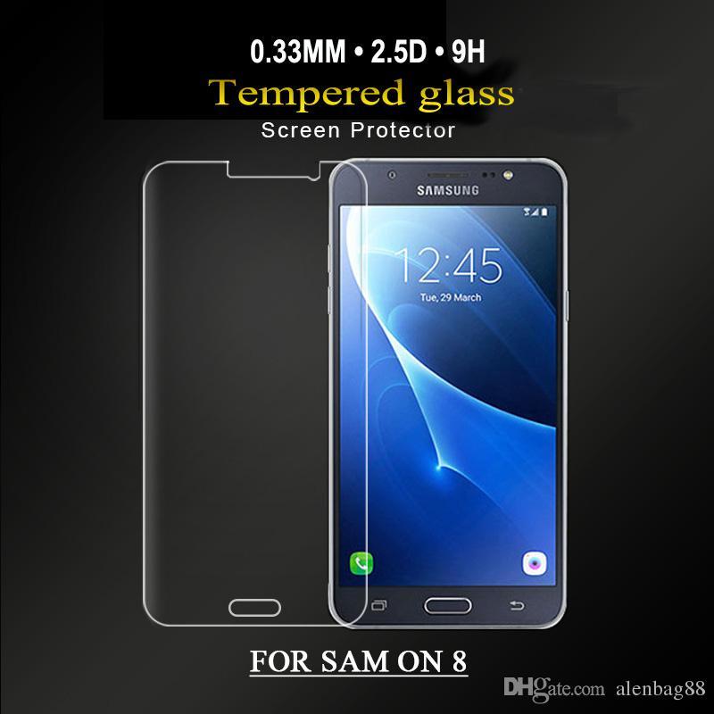 Nuovo arrivo 0.26mm anti luce blu temperato vetro per Samsung galaxy ON5 / ON7 / ON8 temperato protezione dello schermo di vetro per samsung E5 / E7