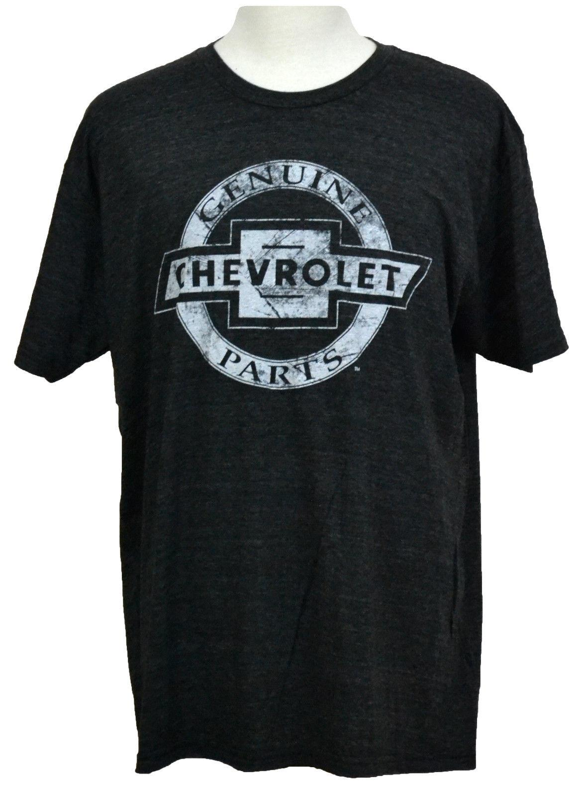 CLEARANCE CHEVROLET GENUINE PARTS MENS CHARCOAL CHEVY TEE SHIRT