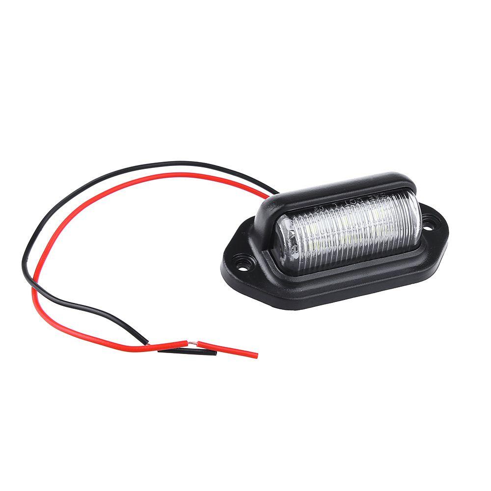 1 шт. Белый 6 светодиодных лампочек освещения номерного знака для автомобилей Мотоциклы Лодки Грузовой автомобиль с прицепом