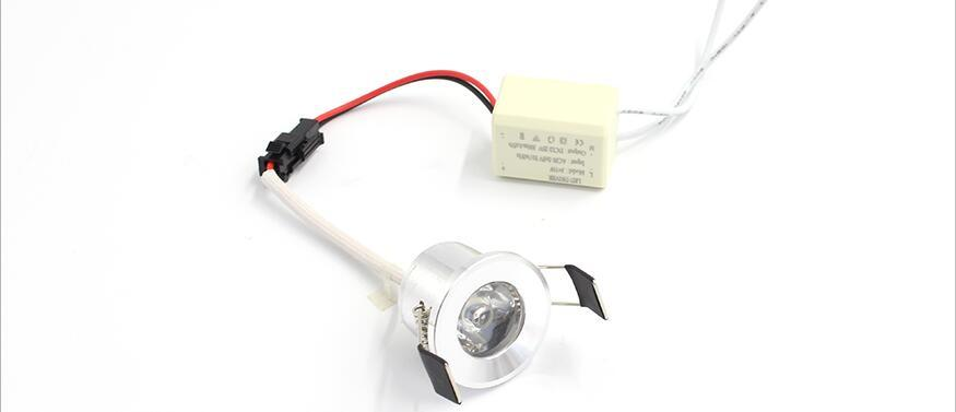LED Mini Downlight Under Cabinet Spot Light 1W for Ceiling Recessed Lamp AC85-265V Dimmable Down lights