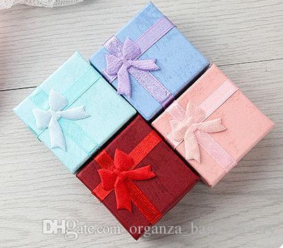 """48шт ювелирные изделия подарочная коробка для кольца размер 4 см (1.6"""") * 4 см(1.6"""")*3 см (1.2"""") смешать цвет"""