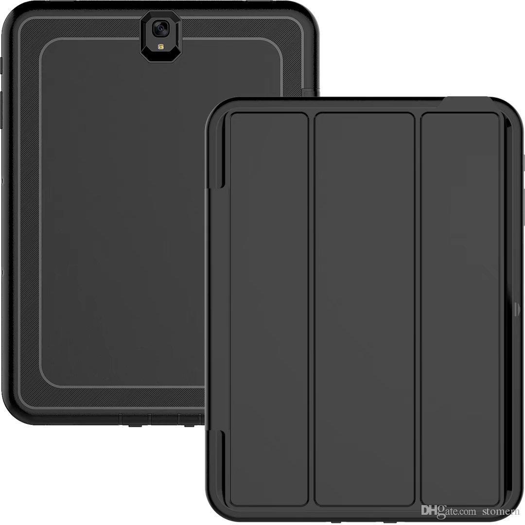 حافظة صلبة لهواتف سامسونج جلاكسي تاب E T560 T580 S3 وعرة صلبة تاثير هجين درع صدمات غطاء سيليكون PC روبوت درع