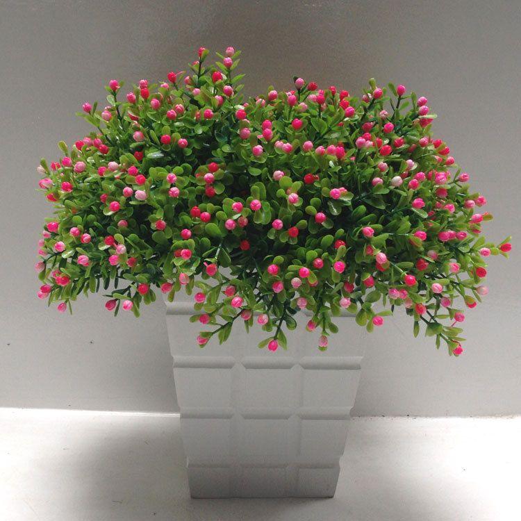 Yapay çiçek Milan çim çiçek aranjmanı Yeşil bitki pot oturma odası süslemeleri Fotoğraf sahne malzemeleri ve süsleyin