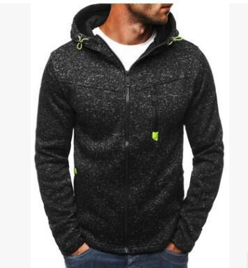 Nuovo maglione con cappuccio jacquard casual da uomo sportivo 2018 e cardigan in pile QQ164