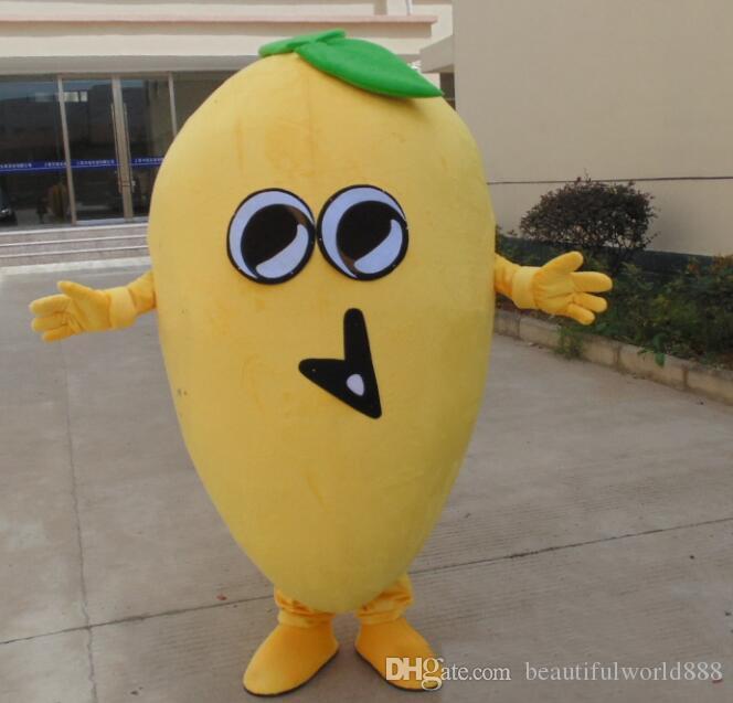 Trajes dulces de alta calidad de la mascota del mango de la fruta caliente 2018 para que adultos usen para la venta