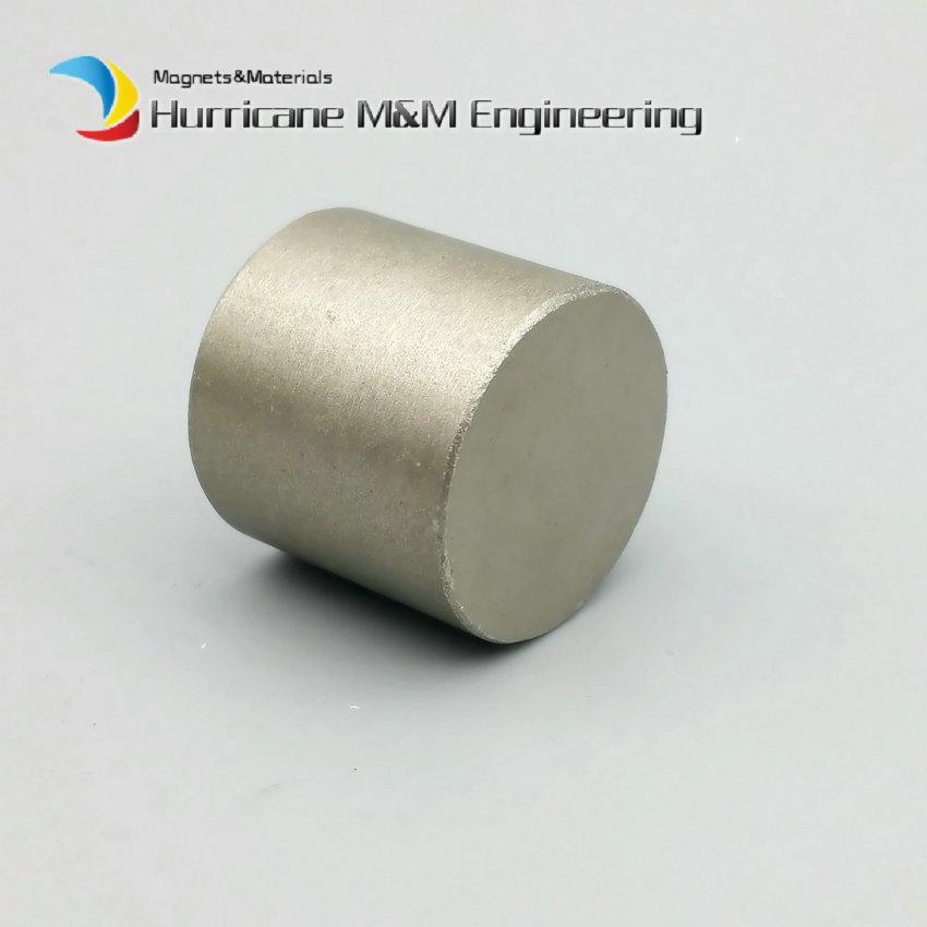 """1 pieza Diámetro del disco del cilindro del imán SmCo 25x25 mm aproximadamente 1 """"Grado YXG24H 350 grados C Alta temperatura de trabajo Imanes permanentes de tierras raras"""