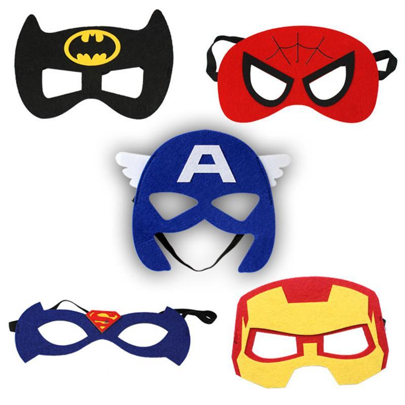 Bat Man Face Mask Halloween Xmas Captain america Spiderman Ironman Thor Superman Hulk PVC Party Mascara Carnaval Old Man Masquerade Cosplay