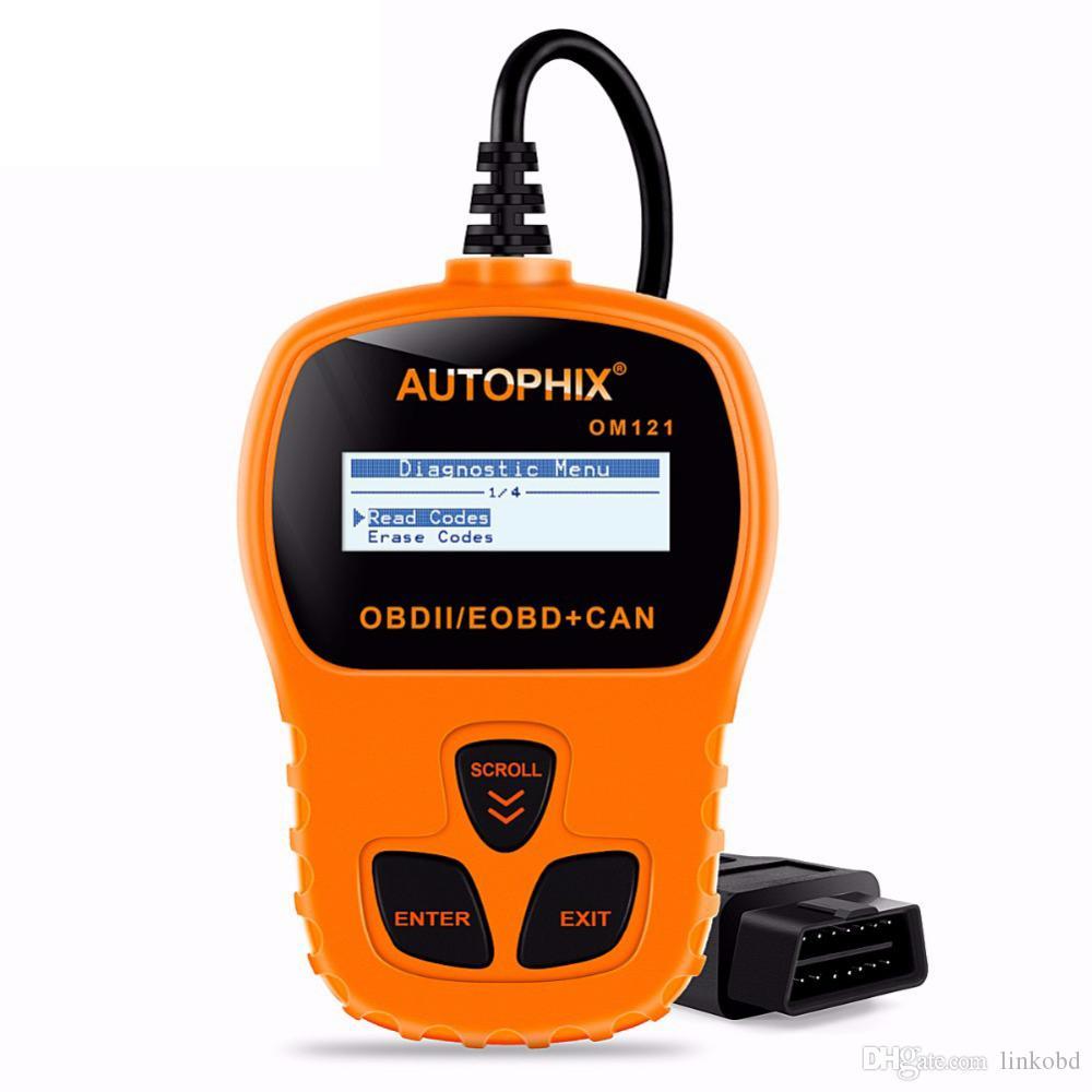 Autophix Autoscanner OM121 OBD2 Araç Teşhis Tarayıcı Desteği Tam OBDII Fonksiyonu Otomatik Teşhis Aracı Desteği Çoklu Dil