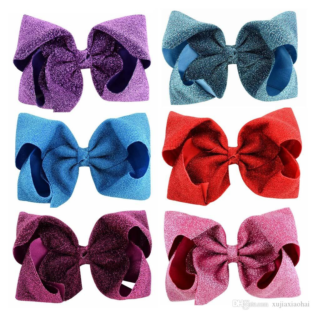 76 Designs mxed 8 inch Unicorn beautiful color printing Big bows for girls hair accessories children hairpin