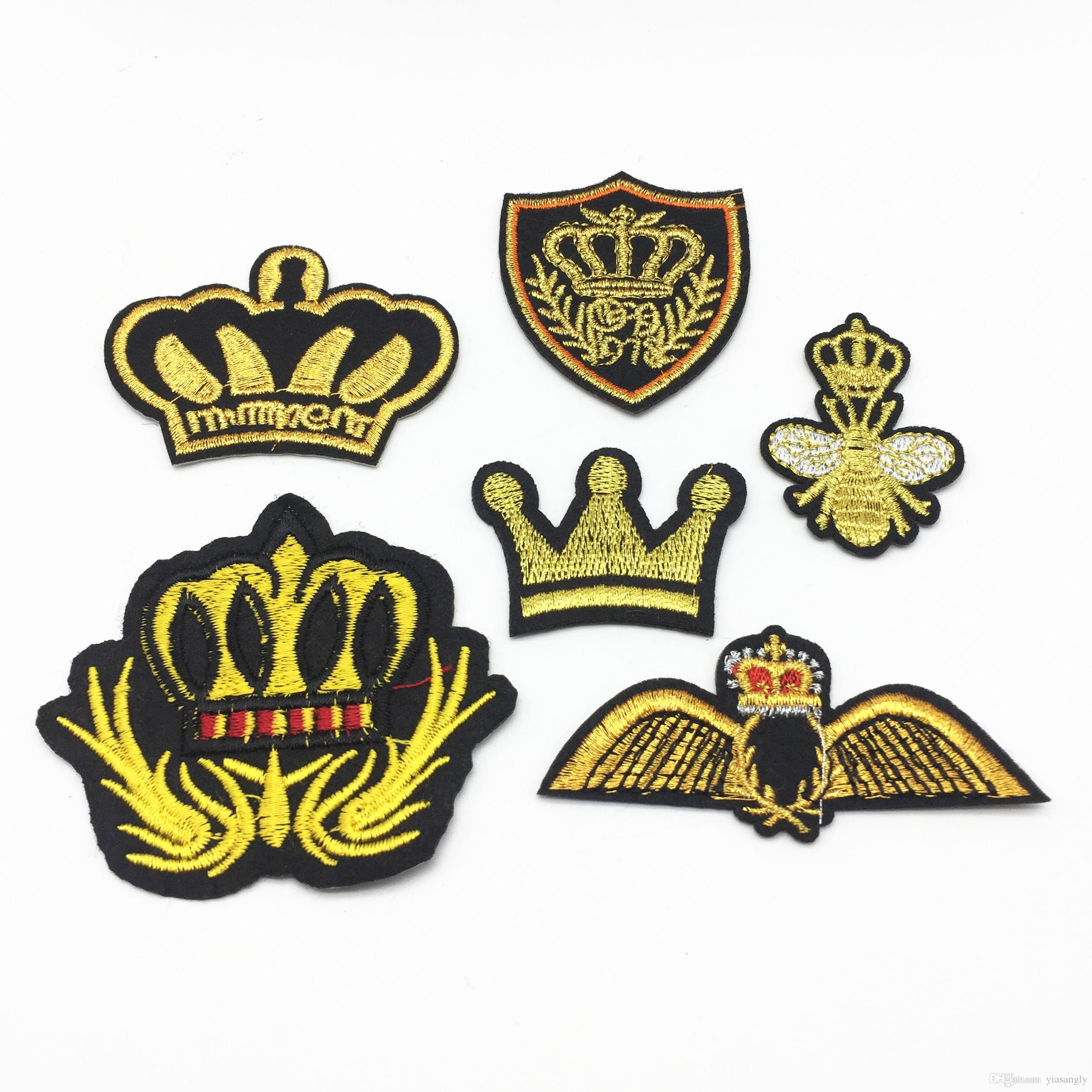 5PCs Mixed Patches Embroidered Sticker Iron On Garment Sewing DIY Accessories