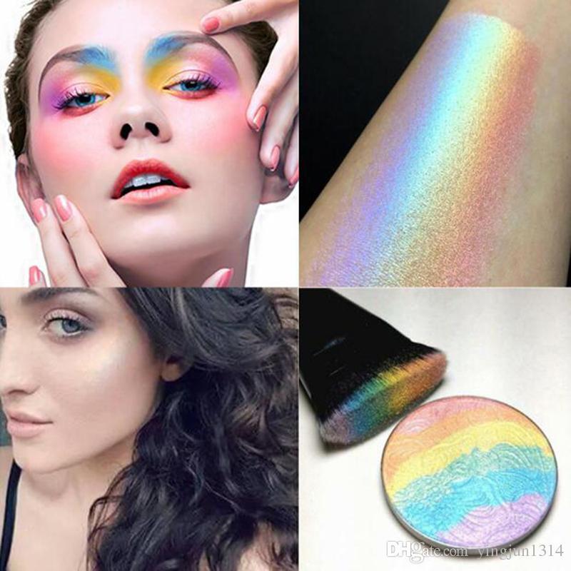 Brand Blush Makeup Highlighter Face Powder Colorete Women Beauty Make Up Rainbow Highlighter Blush Powder free shipping