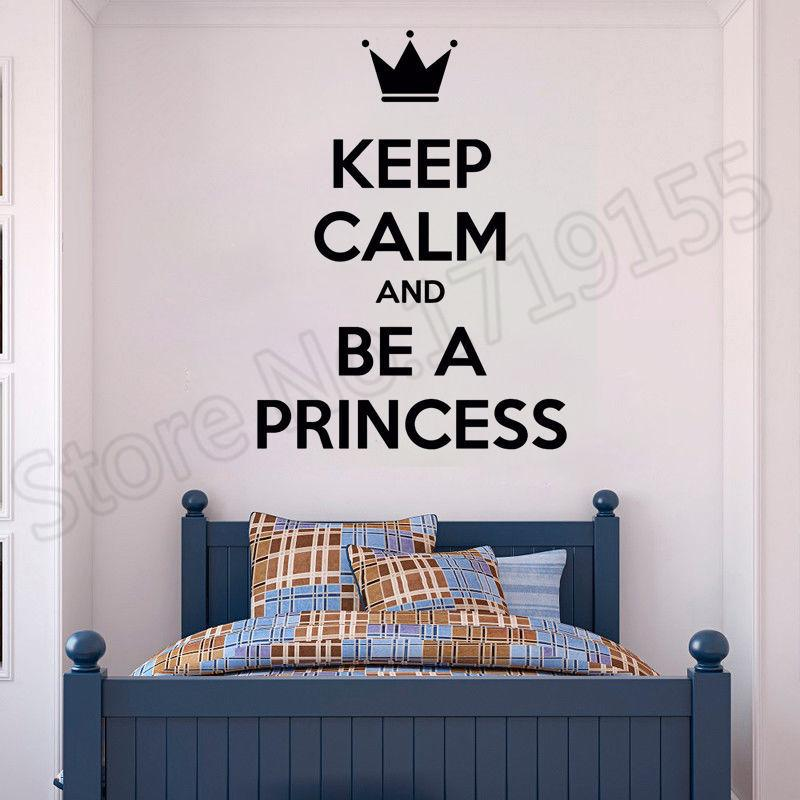 Quote Princess Lady Woman Girl Room Stickers Mural Girls Room Sticker  Fashion Personalized Wall Decal Wall Quotes Decor ZW38 Nursery Stickers  Nursery ...