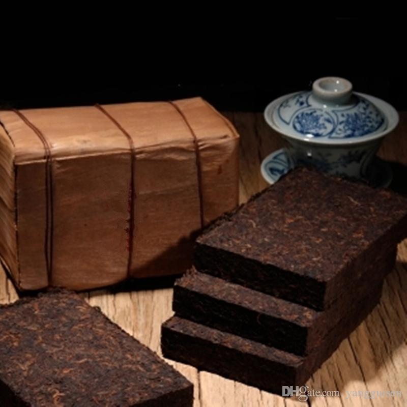 Promosyon 200g Yunnan Geleneksel Mat-kırmızı El yapımı Puer Çay Tuğla Olgun Pu Er Çay Organik Doğal Siyah Pu'er Çay Tuğla Pişmiş puer Preslenmiş