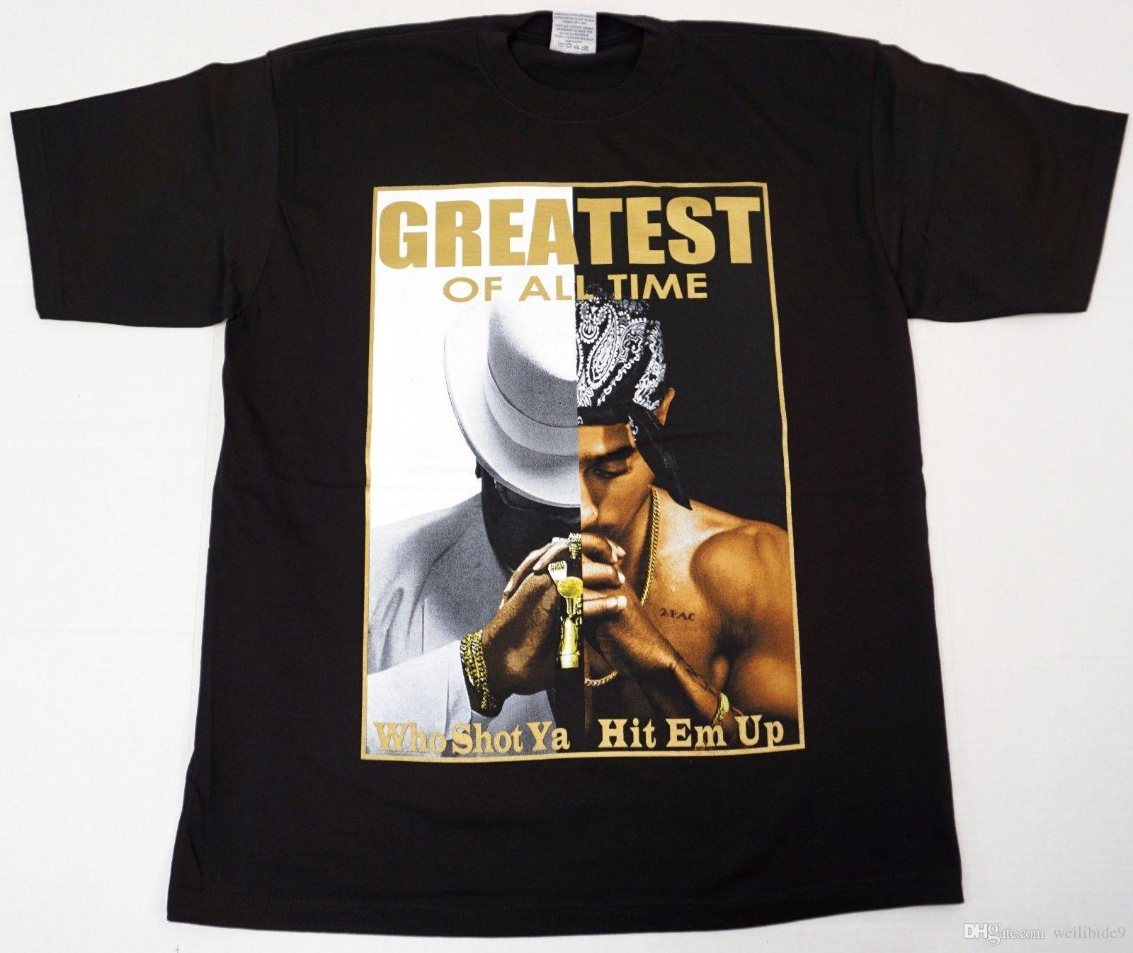 5a7fd1bc4 2Pac Biggie Smalls T-shirt Tupac Shakur Notorious B.I.G. Adult 23XL Tee New  N270 Print T Shirt Men Hot top tee