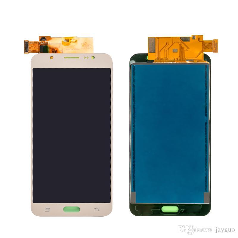 15PCS Helligkeit einstellen LCD-Schirm für Samsung Galaxy J7 2016 J710 SM-J710f LCD-Anzeigen-Noten-Digitizer Assembly