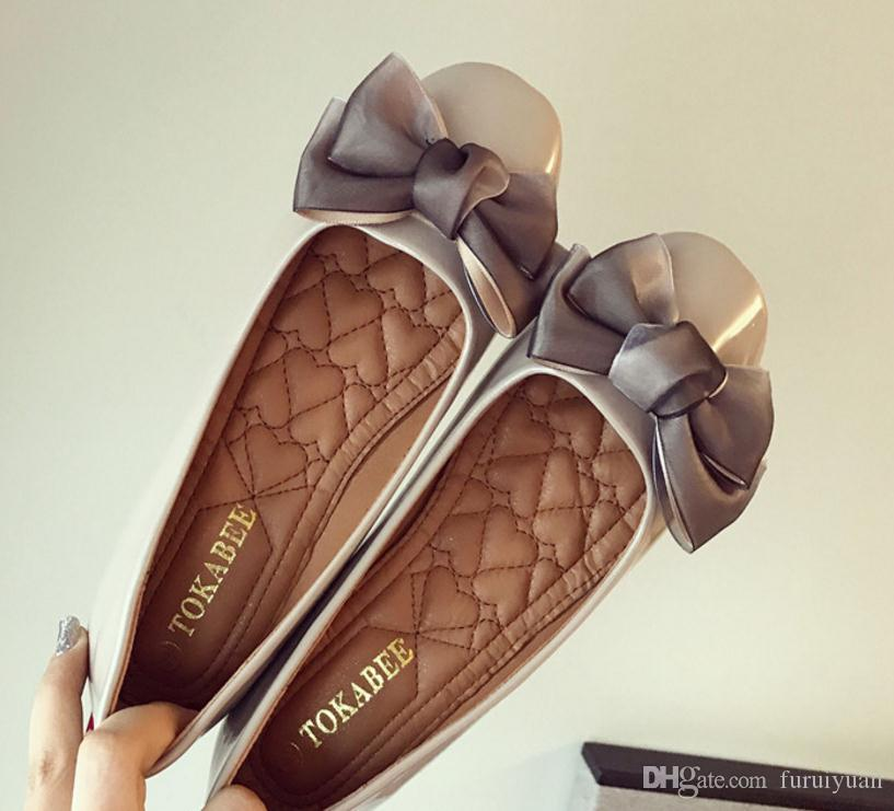 Бесплатная отправка горячей корейской версии 2018 весна новый стиль плоским дном женская обувь