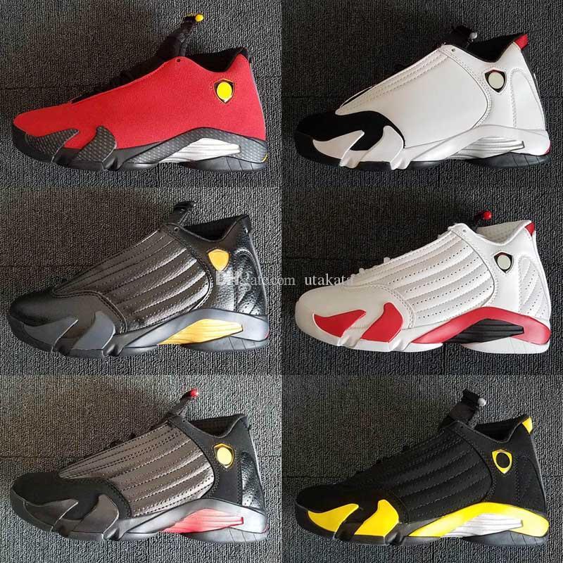 Cheap Jumpman 14 XIV 사막의 모래 DMP 빨간 검은 발가락 Indiglo 마지막 장면 Thunder Wolf gray Mens 14s Basktball Shoes 5.5-13