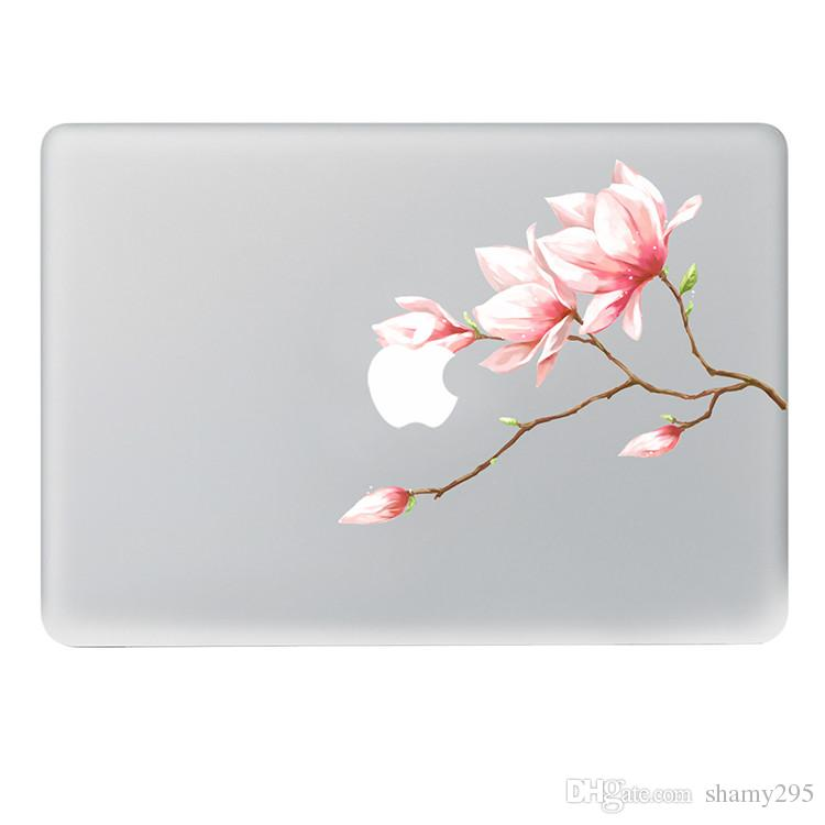 free shipping 2018 new hot sales Pink bud flower Vinyl Decal Notebook sticker on Laptop Sticker For Macbook Pro 11 13 15 inch Laptop Skin