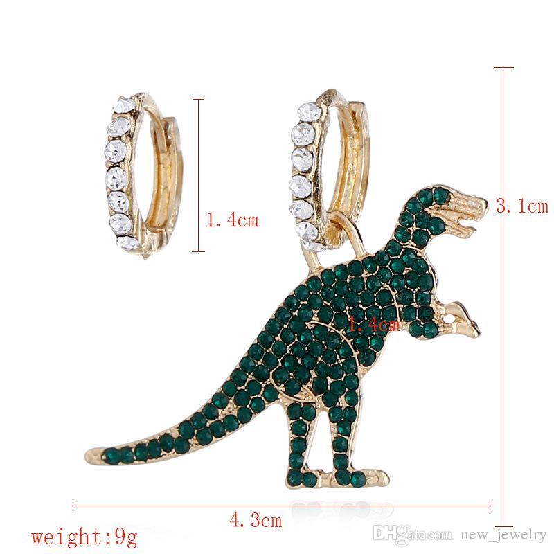 Fashion  Women Handmade Green Dinosaur Acrylic Drop Dangle Earrings Jewelry GME