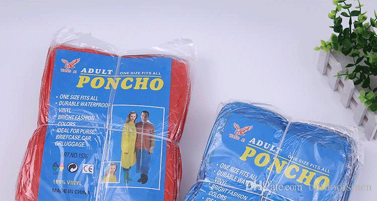 Details about  /10PCS Disposable Emergency Waterproof Rain Coat Poncho Hiking Camping Hood SUST