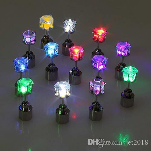 diamond Led Earrings Women Men Hot Sale Fashion Jewelry Light Up Crown Crystal Drops LED Earrings