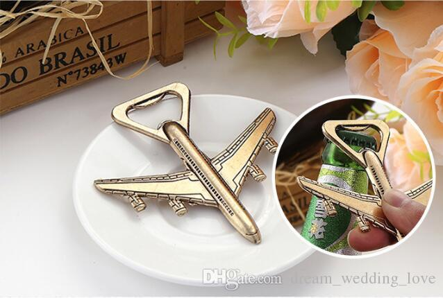 Aircraft bottle opener Metal bottle opener wedding souvenirs Wedding favors Giveaways and Party Door Gifts HD04