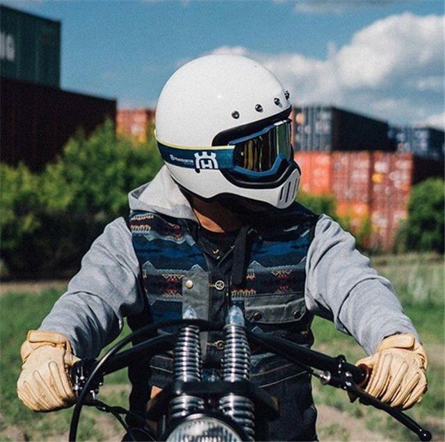 cheap for sale best new arrival DOT Motorcycle Full Face Helmet Vintage With Visor For Dirt Dirt ...