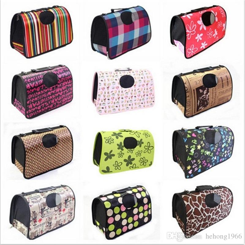 새로운 대용량 개 고양이 쉬운 접이식 캐리어 여행 가방은 애완 동물 용품 가방 옥외 방수 핸드백 고품질을 저항하는 착용한다
