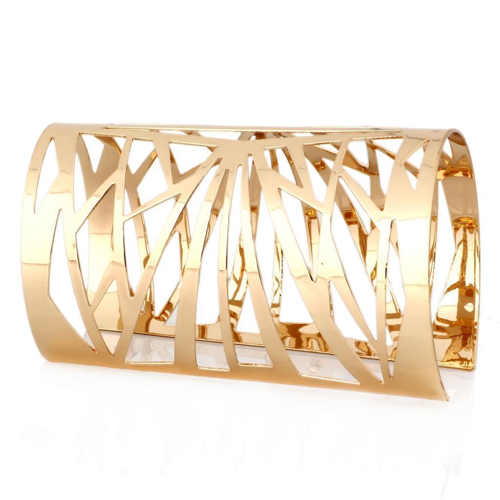 Monili di modo del braccialetto del polsino largo aperto del cerchio del fiore del cerchio vuoto dell'oro