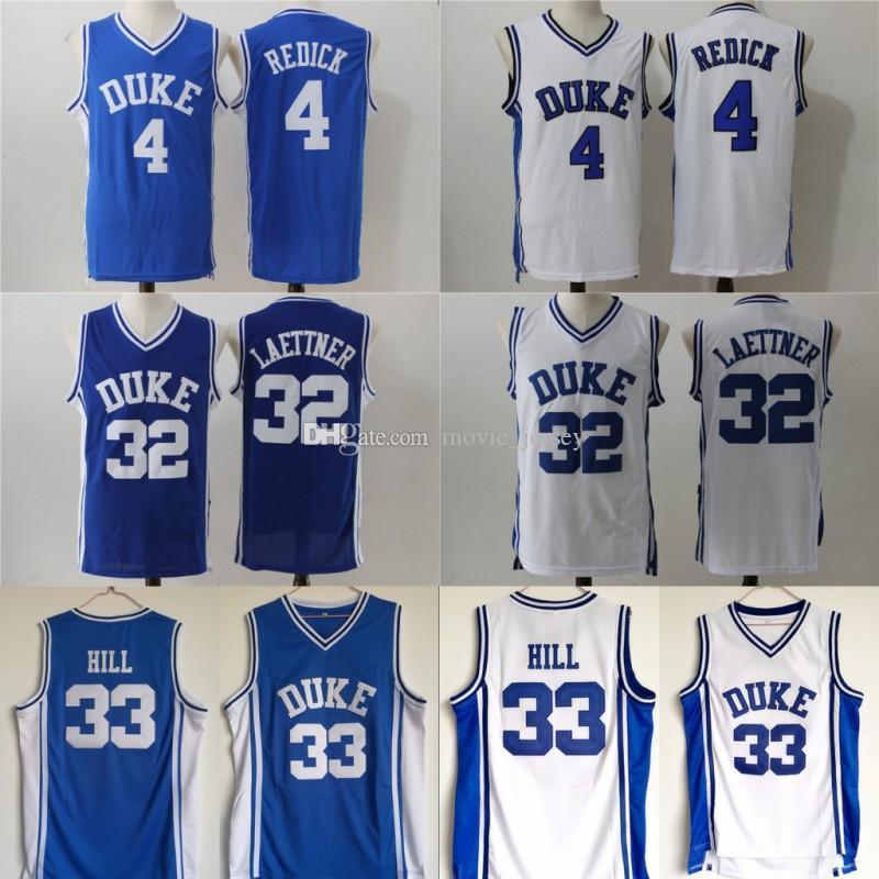Duke Blue Devils College Maillots 0 Jayson Tatum 4 JJ Redick 32 Christian Laettner 33 Grant Hill Maillots de basket-ball piqués à 100% Mélanger Ordre