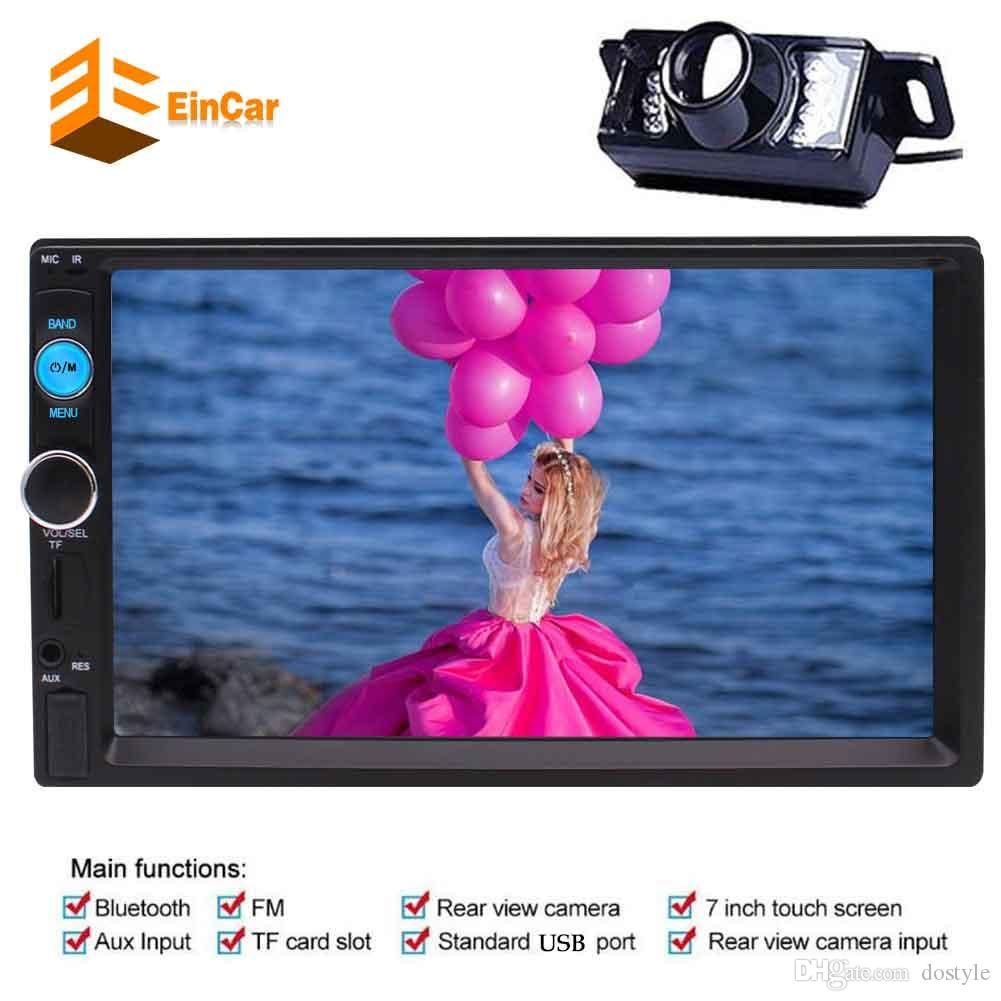 EinCar Double 2 Din In Dash Car headunit Stereo MP5 Player 7'' Capacitive Multi-Touch Screen FM Radio Video Player no-dvd Bluetooth/USB/SD